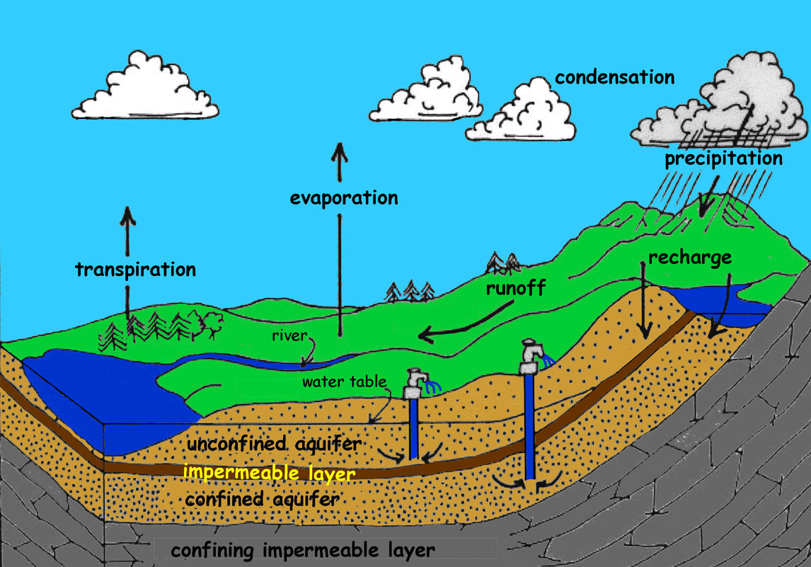 water table aquifer diagram  water  get free image about